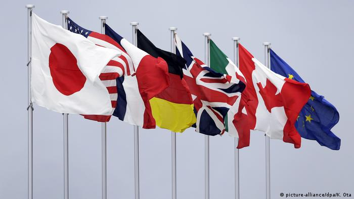 Flags of G7 members (picture-alliance/dpa/K. Ota)