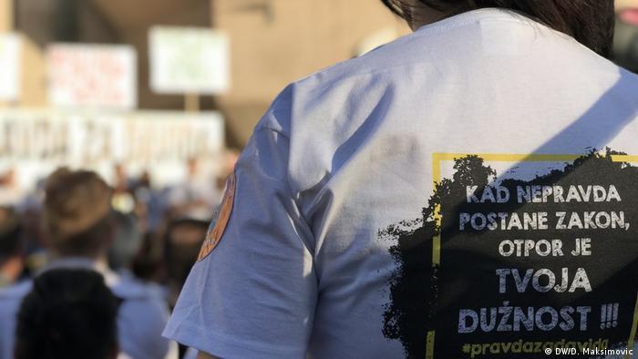 Bosnien-Herzegowina - Proteste für die Aufklärung des Todesfalls von David Dragicevic (DW/D. Maksimovic)