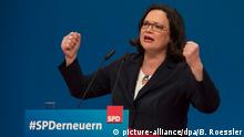 Nahles at SPD conference