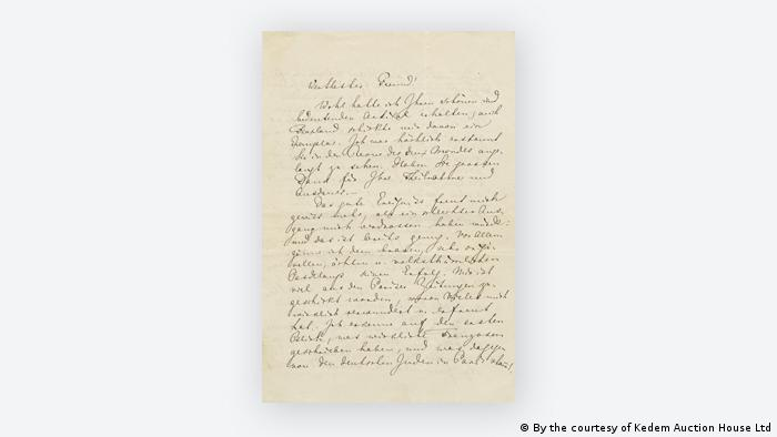 Richard Wagner's anti-Semitic letter (By the courtesy of Kedem Auction House Ltd)
