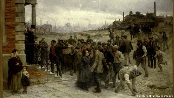 A greve, de Robert Koehler, ilustra revolta proletária em 1886
