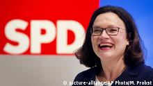 Andrea Nahles (picture-alliance/AP Photo/M. Probst)