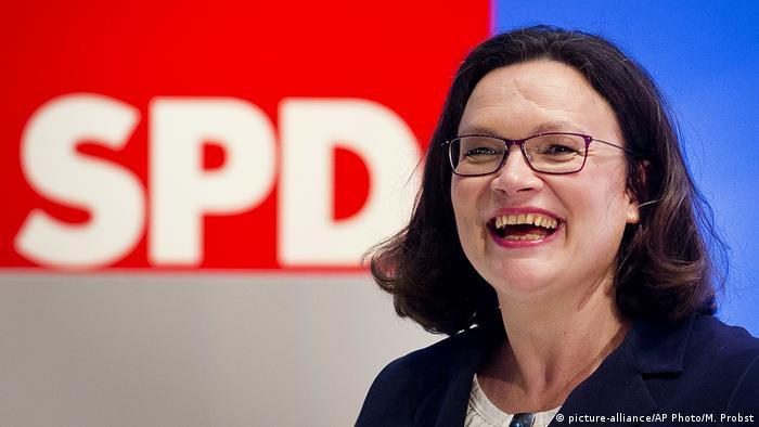 Nova líder social-democrata alemã, Andrea Nahles