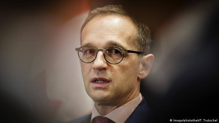 Canada - G7 meeting in Toronto - German Foreign Minister Heiko Maas speaks to reporters