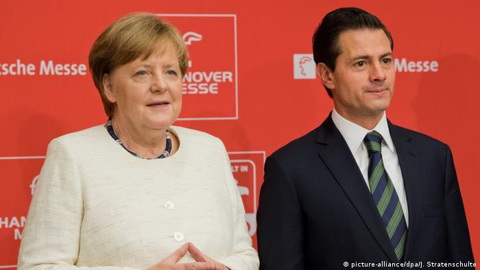 Chancellor Angela Merkel and Mexican President Enrique Pena Nieto open the Hannover Messe