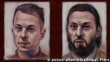 Salah Abdeslam Gerichtszeichnung