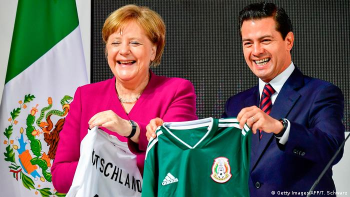Hannover Messe Merkel Pena Nieto (Getty Images/AFP/T. Schwarz)