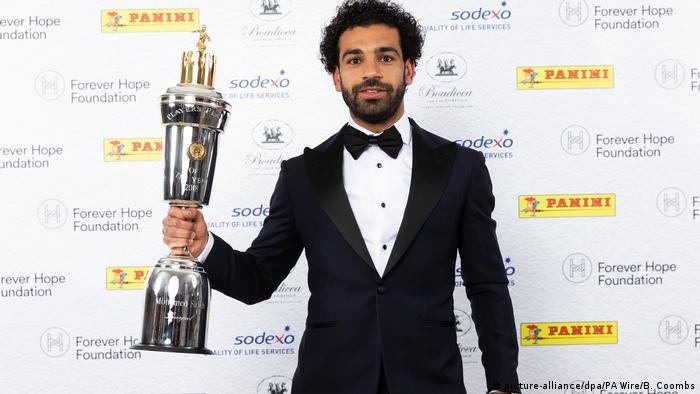 Großbritannien London - PFA Fussball Award an Mohamed Salah (picture-alliance/dpa/PA Wire/B. Coombs)