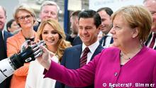 Hannover Messe Rundgang Merkel Nieto Roboter