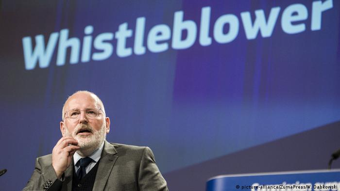 Frans Timmermans, an EU official for regulation, speaks at a press conference