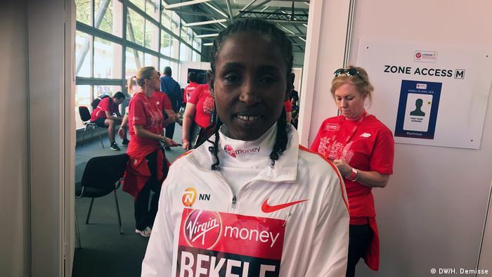 UK äthiopische Athleten beim London-Marathon