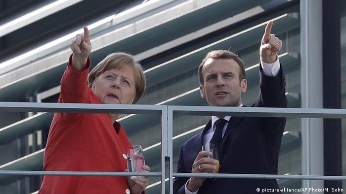 Анґела Меркель та Еммануель Макрон у Берліні, квітень 2018
