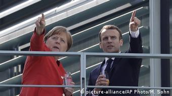 Bundeskanzlerin Merkel undStaatspräsident Macron. Deutschland Französischer Präsident Emmanuel Macron in Berlin