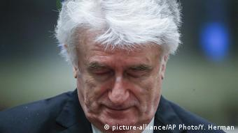 Holland Den Haag - Radovan Karadzic vor Gericht (picture-alliance/AP Photo/Y. Herman)