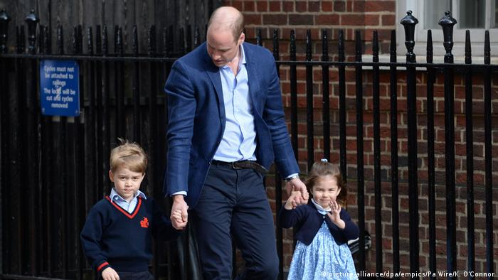England Prinz William mit Kindern Royal Baby (Foto: picture-alliance/dpa/empics/Pa Wire/K. O'Connor)