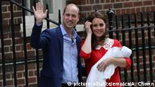 The Duke and Duchess of Cambridge and their new son outside St Mary's Hospital in London (picture-alliance/empics/A. Chown)