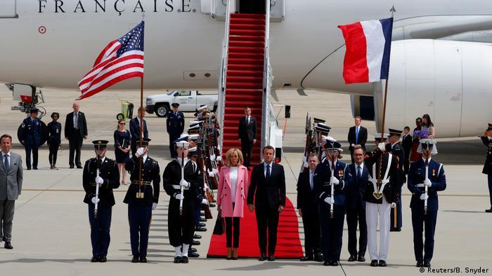 USA Besuch Präsident Macron und seine Frau (Reuters/B. Snyder)