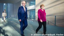 Malcolm Turnbull und Angela Merkel in Berlin (picture-alliance/dpa/G. Fischer)