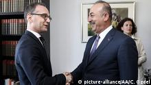 USA Mevlut Cavusoglu und Heiko Maas in New York