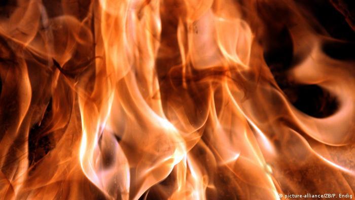 Flammen aus einem Holzfeuer (picture-alliance/ZB/P. Endig)