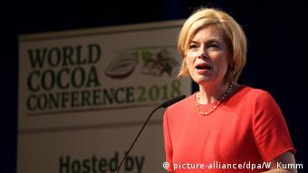La ministre allemande de l'Agriculture promet de s'engager pour un cacao durable