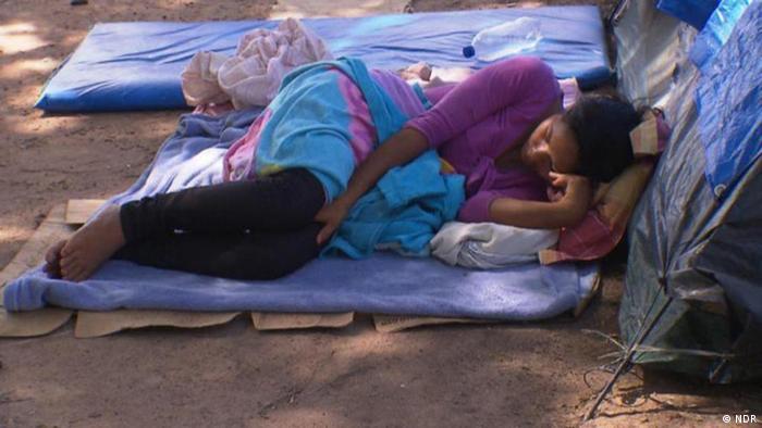 Migrante venezolana en Brasil.