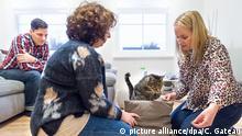 Haustiere bei der Therapie