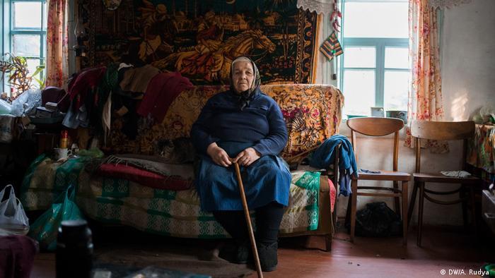 Galyna Ivanivna, de 82 anos, é uma samosely, como são chamados habitantes da área de exclusão de Chernobyl