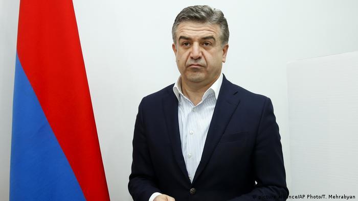 Armenischer Interims-Premierminister Karen Karapetian (picture alliance/AP Photo/T. Mehrabyan)