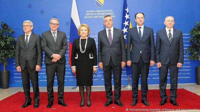 Bosnien und Herzegowina Sarajevo - Treffen von Regierungsvertretern