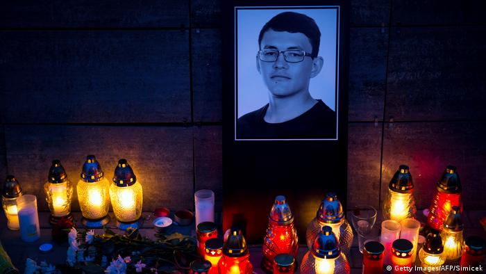 Homenaje al periodista asesinado Jan Kuciak.