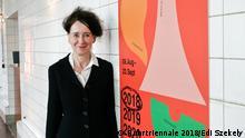 Intendantin Stefanie Carp bei der Programmpräsentation der Ruhrtriennale 2018 bei PACT Zollverein.