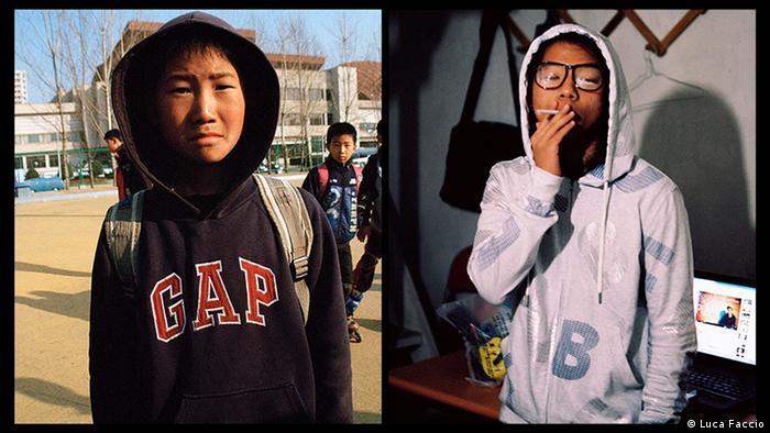 Два подростка - из Северной и Южной Корей