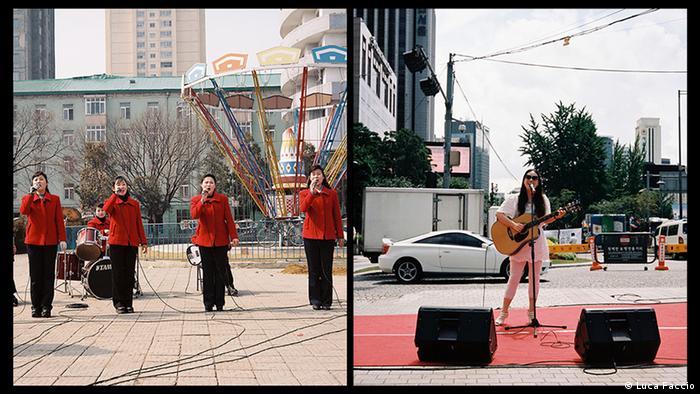 Уличные музыканты в Пхеньяне и Сеуле