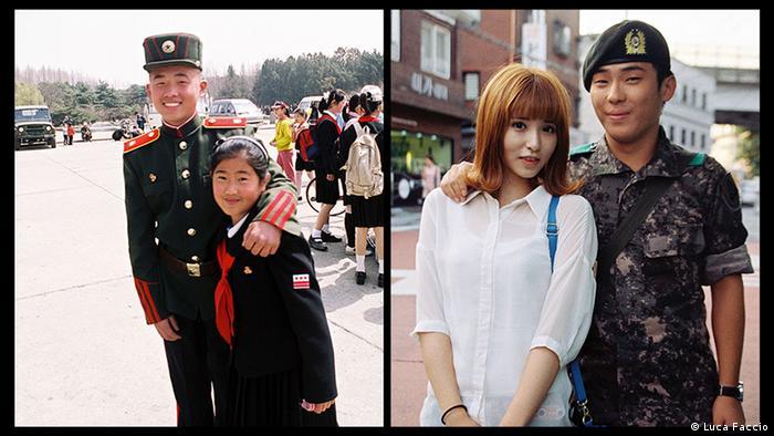 Военные с девушками в КНДР и Южной Корее