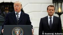 USA Washington - Donald Trump trifft Emmanuel Macron