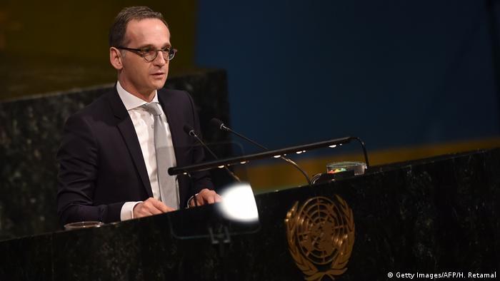 UN-Hauptquartier | Deutscher Außenminister Heiko Maas hält eine Rede
