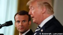 USA PK US-Präsident Trump und französicher Präsident Macron in Washington