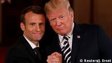 USA Washington - Donald Trump trifft Emmanuel Macron (Reuters/J. Ernst)