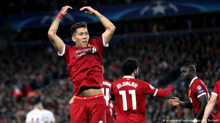 Liverpool v AS Rom - UEFA Champions League Firmino (picture-alliance/empics/M. Rickett)