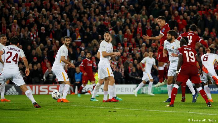 Champions League Liverpool vs AS Rom (Reuters/P. Noble)