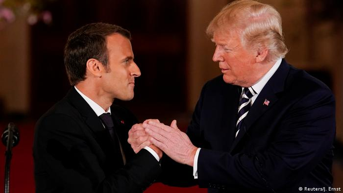 Washington Donald Trump empfängt Macron (Reuters/J. Ernst)