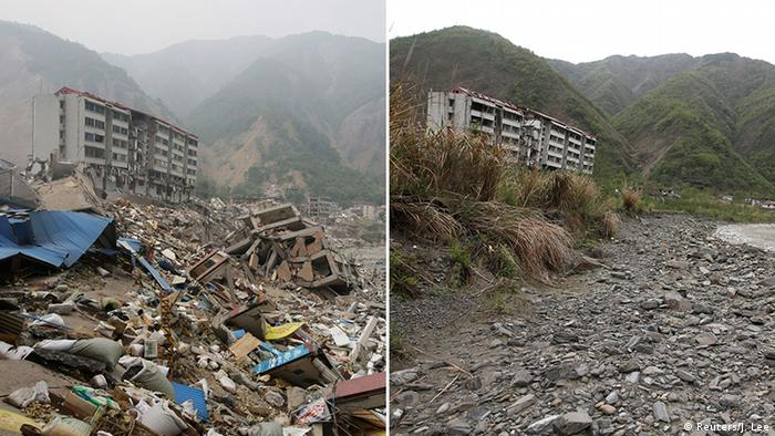 Wreckage left by 2008 Sichuan earthquake (Reuters/J. Lee)