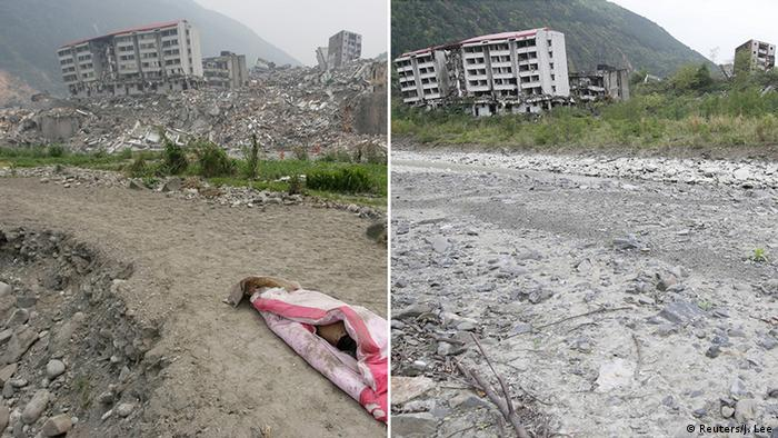 Wreckage left by the Sichuan earthquake (Reuters/J. Lee)