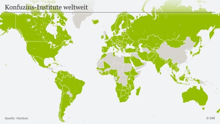 Karte Konfuzius-Institute weltweit DEU