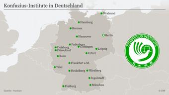 Karte Konfuzius Institute in Deutschland DEU