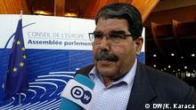 24.04.2018 Ex-Chef der syrischen Kurdenpartei PYD Salih Muslim in Straßburg