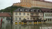 04.06.2013 +++ The main square of Melk, Austria stands underwater during the June 2013 Danube flood.