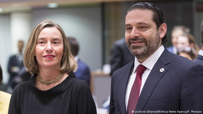 Federica Mogherini und Saad Hariri