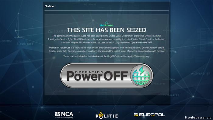 Screenshot webstresser.org - shutdown